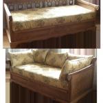 nábytek z masivu - dubová pohovka