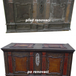 Renovace nábytku - barokní truhla